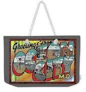 Greetings From Ocean City Weekender Tote Bag