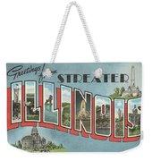 Greetings From Streater Illinois Weekender Tote Bag