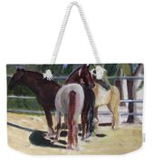 Gregory And His Mares Weekender Tote Bag by Linda Feinberg