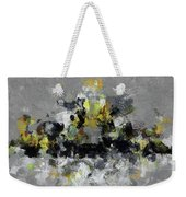Grey And Yellow Abstract Cityscape Art Weekender Tote Bag