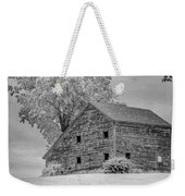 Grey Barn On A Grey Day Weekender Tote Bag