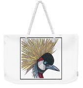 Grey Crowned Crane #52 Weekender Tote Bag