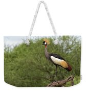 Grey Crowned Crane Weekender Tote Bag