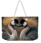 Grey Crowned Cranes Of Africa Weekender Tote Bag