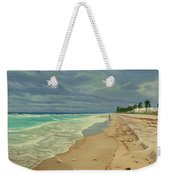 Grey Day On The Beach Weekender Tote Bag