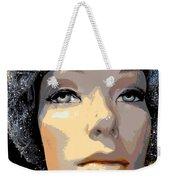 Grey Glitter Gertrude Weekender Tote Bag