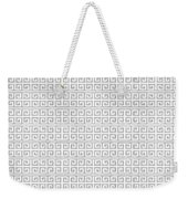 Grey Greek Key Watercolor Pattern Beach Ocean Home Decor Weekender Tote Bag