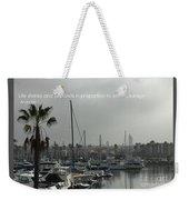 Grey Harbor Weekender Tote Bag