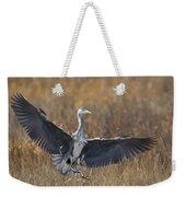 Grey Heron Landing Weekender Tote Bag