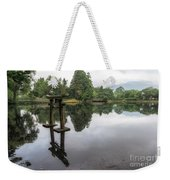 Grey Heron On Lake Kinrin Weekender Tote Bag
