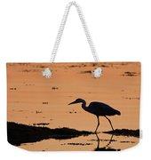 Grey Heron Sunset Weekender Tote Bag