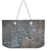 Grey In Snow Weekender Tote Bag