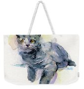 Grey Kitten Weekender Tote Bag