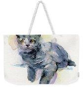 Grey Kitten Weekender Tote Bag
