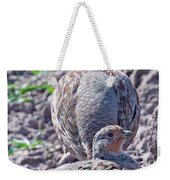 Grey Partridge Weekender Tote Bag