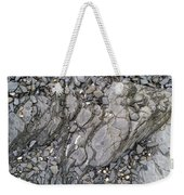 Grey Rocky Shore. Weekender Tote Bag