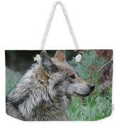 Grey Wolf Profile 2 Weekender Tote Bag