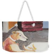 Greyhound And Spaniel Weekender Tote Bag