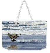 Greyhound At The Beach Weekender Tote Bag