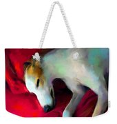 Greyhound Dog Portrait  Weekender Tote Bag