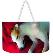 Greyhound Dog Portrait  Weekender Tote Bag by Svetlana Novikova
