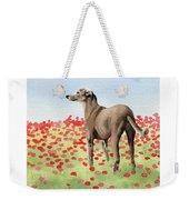 Greyhound In Poppies Weekender Tote Bag