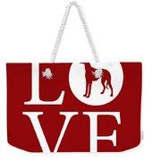 Greyhound Love Red Weekender Tote Bag