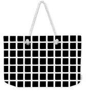 Black Squares Weekender Tote Bag