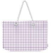 Grid Boxes In White 30-p0171 Weekender Tote Bag