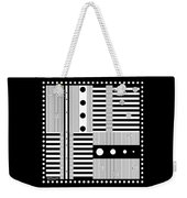 Grid Formal Attire Weekender Tote Bag