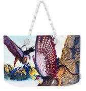 Griffins On Cliff Weekender Tote Bag