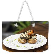 Grilled Fish With Roast Potato Herbs And Garlic Weekender Tote Bag