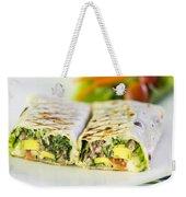 Grilled Vegetable And Salad Wrap Weekender Tote Bag