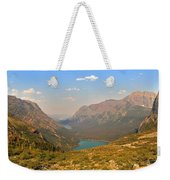 Grinnell Glacier Trail Panorama Weekender Tote Bag