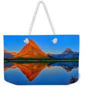 Grinnell Point Alpenglow Panorama Weekender Tote Bag