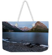 Grinnell Point Over Swiftcurrent Lake Weekender Tote Bag