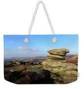 Gritstone Rocks On Hathersage Moor, Derbyshire County Weekender Tote Bag
