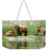 Grizzly Bear Family  Weekender Tote Bag