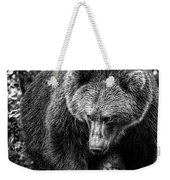 Grizzly Bear In Black And White Weekender Tote Bag
