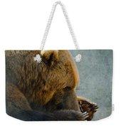 Grizzly Bear Lying Down Weekender Tote Bag