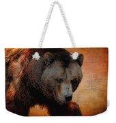 Grizzly Bear Painted Weekender Tote Bag