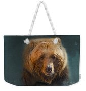 Grizzly Bear Portrait Weekender Tote Bag by Betty LaRue