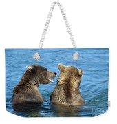 Grizzly Bear Talk Weekender Tote Bag