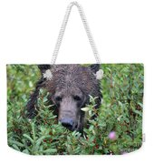 Grizzly In The Berry Bushes Weekender Tote Bag