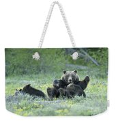 Grizzly Romp - Grand Teton Weekender Tote Bag by Sandra Bronstein