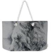 Grizzly Sketch Weekender Tote Bag