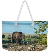Grizzly Sow At Yellowstone Lake Weekender Tote Bag