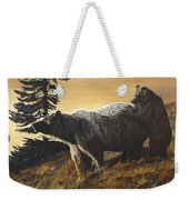 Grizzly With Cub Weekender Tote Bag
