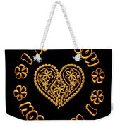Groovy Golden Heart And I Love You Weekender Tote Bag