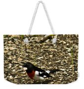 Grosbeak With Quizzical Look Weekender Tote Bag